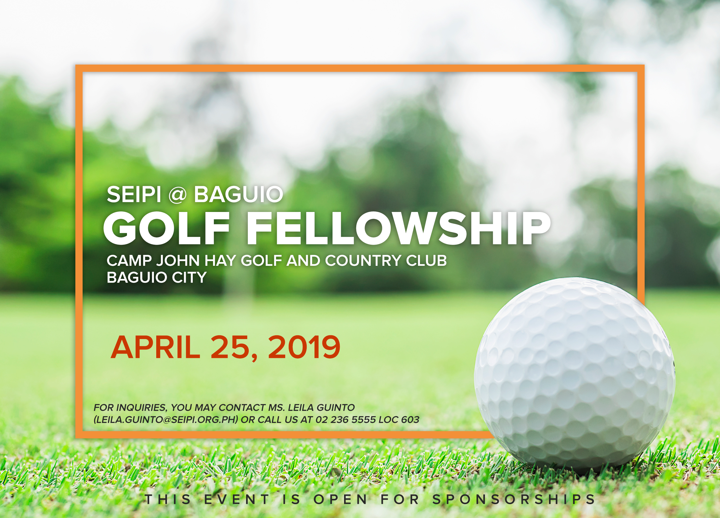 2019 GOLF BAGUIO SAVE THE DATE 2